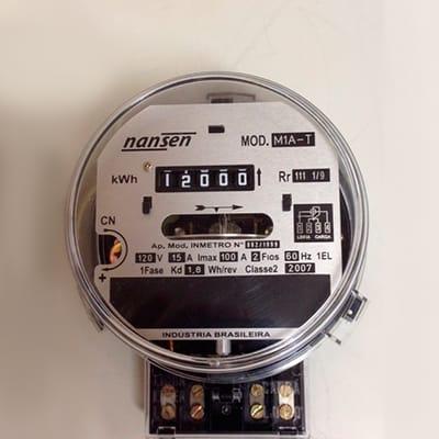 Qual a função do relógio medidor de energia?